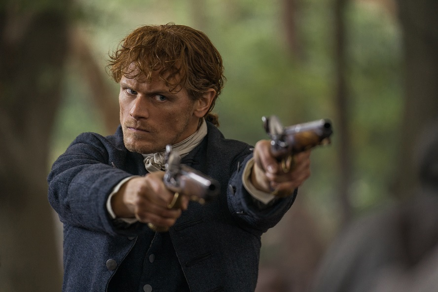 Outlander notes: A Sam Heughan promo; new Richard Rankin quotes